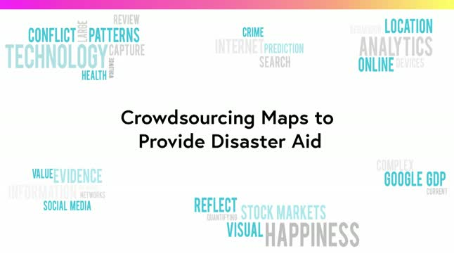 Crowdsourcing maps to provide disaster aid