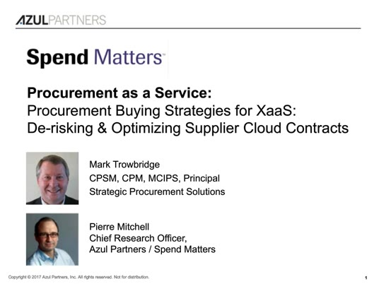 Procurement Buying Strategies for Everything as a Service (XaaS): De-risking and Optimizing Supplier Cloud Contract slide image