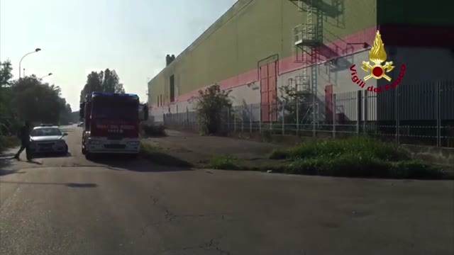 Video: Spento l'incendio di Trezzano