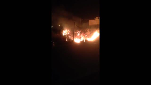 Incendio a Verzi di Loano