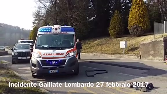 Video: Incidente tra Bodio e Galliate, arriva l'elisoccorso