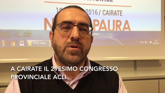 Video: A Cairate il congresso provinciale Acli