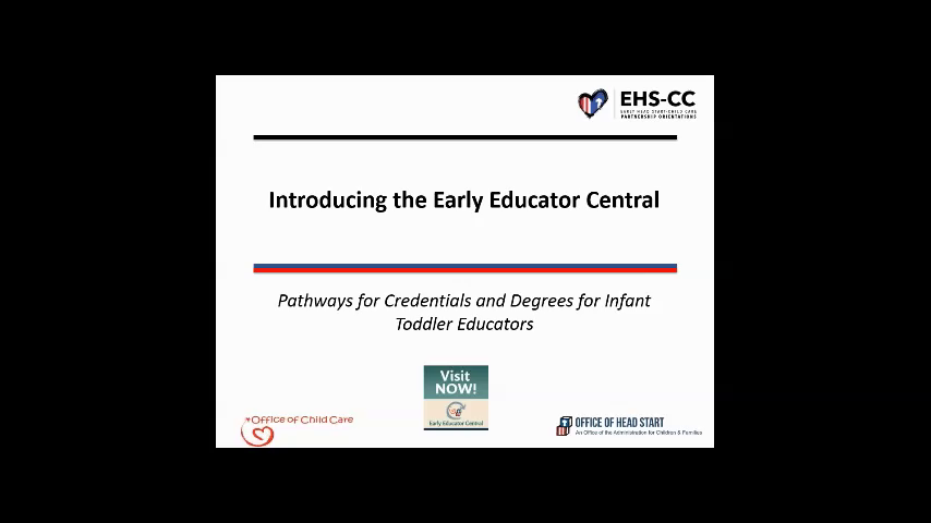 Introducing Early Educator Central