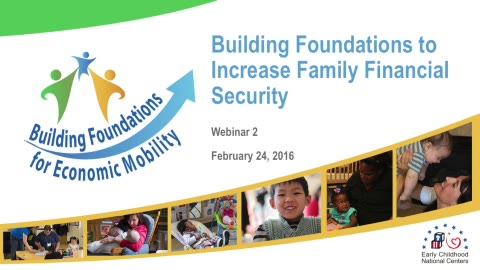 Building Foundations to Increase Family Financial Security