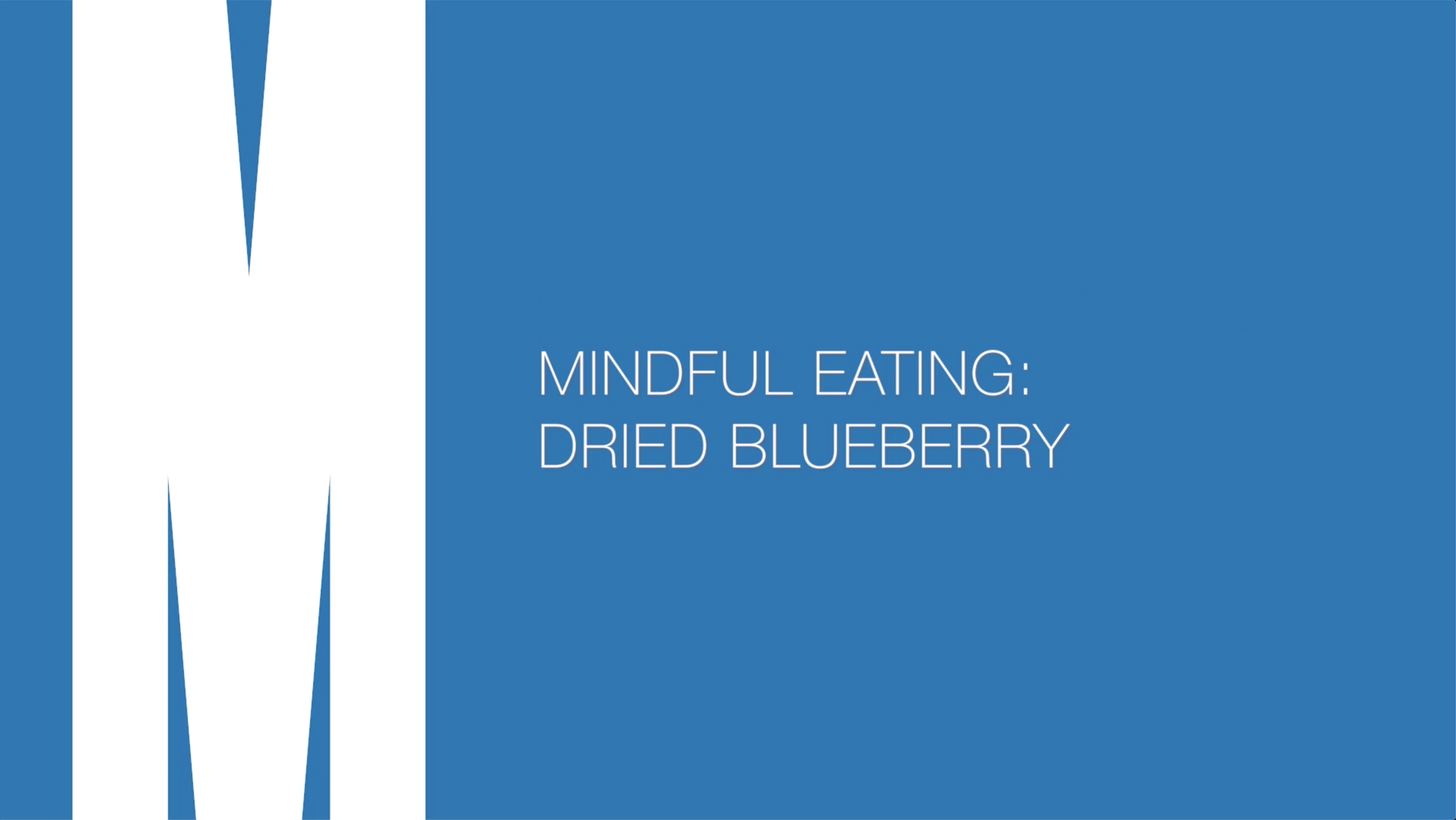 Mindful eating: Dried blueberry