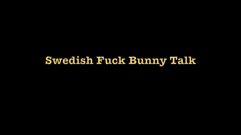 Sex Talk - Swedish Fuck Bunny - Part 1