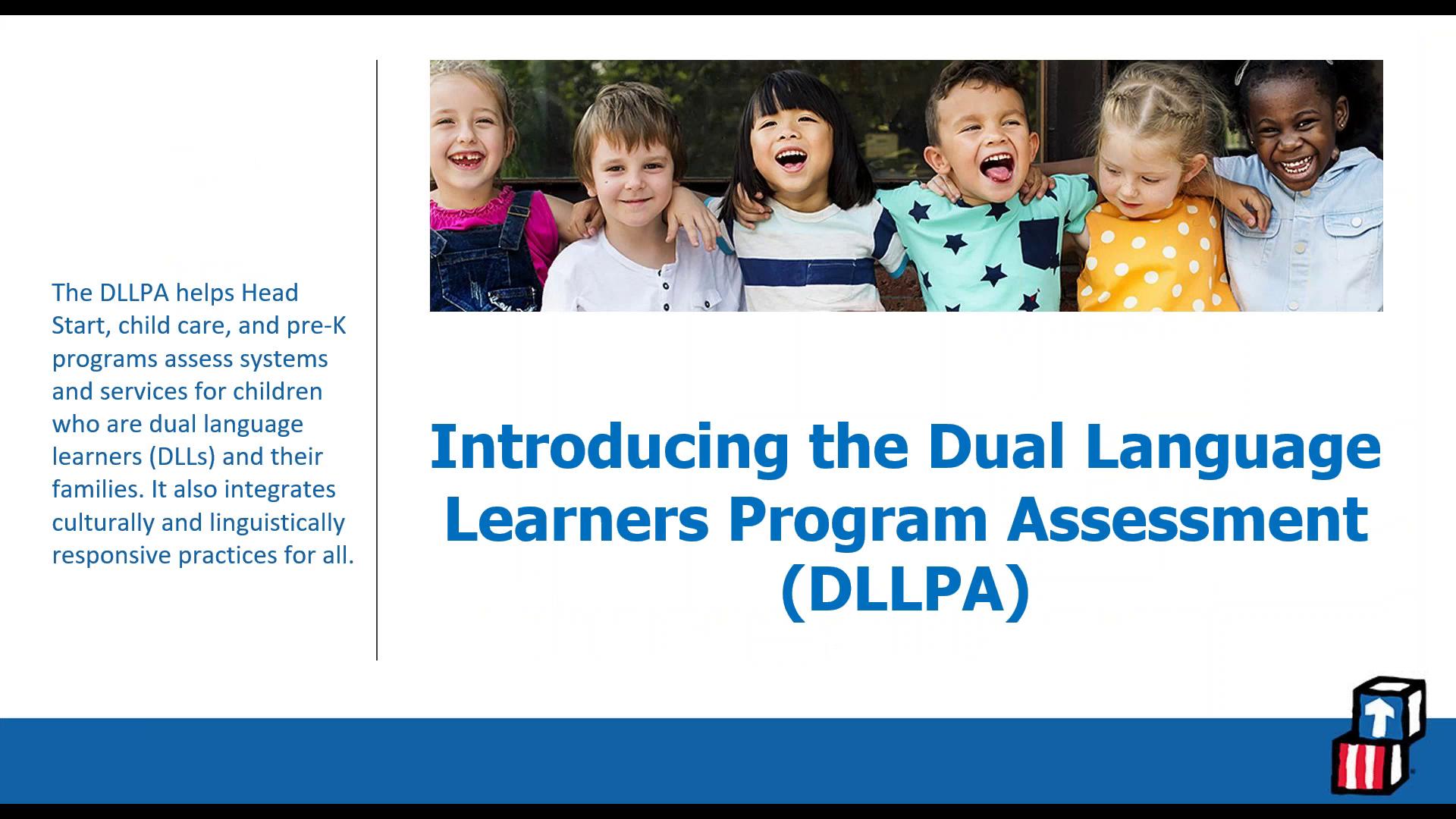 Presentación de la Evaluación del programa para niños que aprenden en dos idiomas (DLLPA)