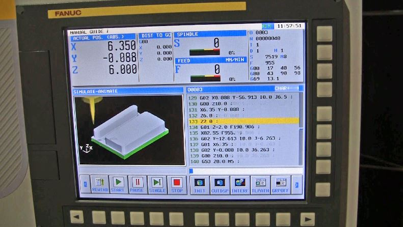 VIDEO: FANUC CNC Simulator Trains Students to Code Tool