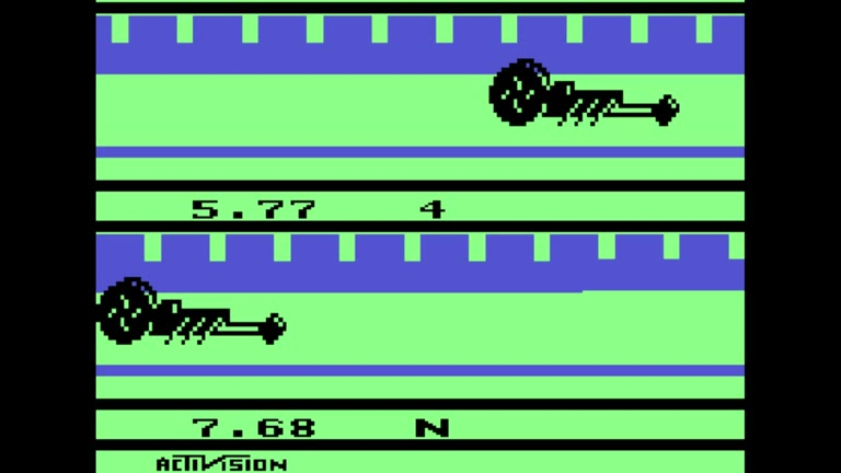 Atari 2600 / VCS - Dragster - EMU - Game 1, Difficulty B [Fastest Time] - - 05.64 - Bailey Chestnut