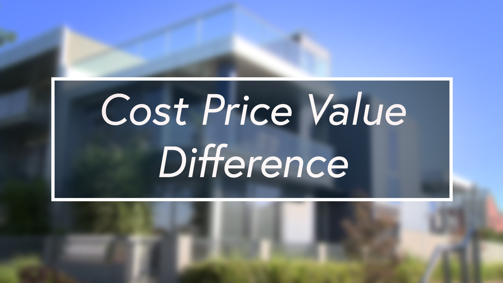 Cost, price, value - what is the difference?