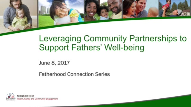 Leveraging Community Partnerships to Support Fathers' Well-being