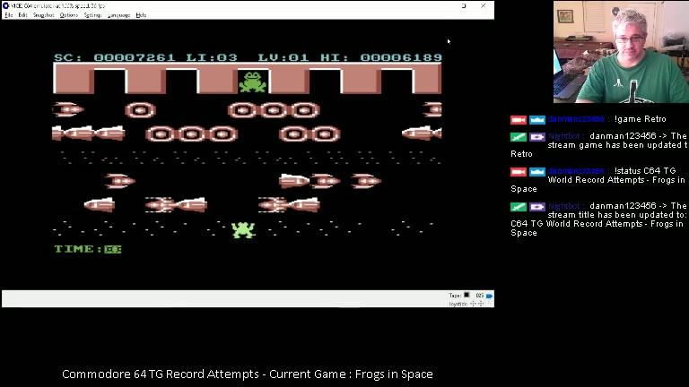 Commodore 64 - Frogs in Space - EMU - Points - - 99,284 - Daniel Desjardins