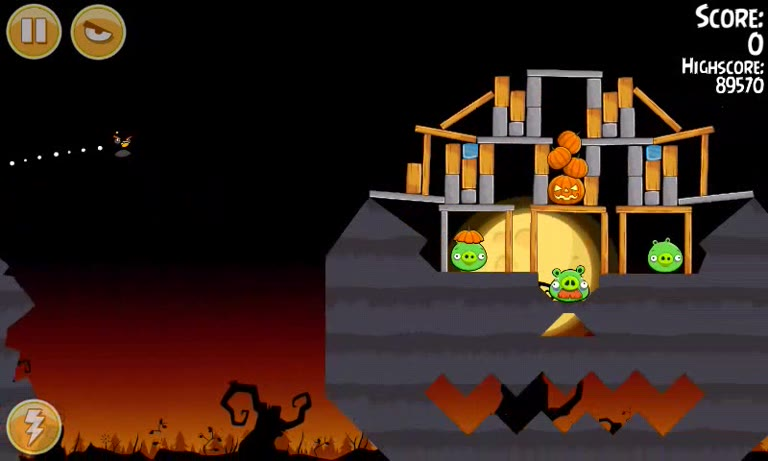 Android - Angry Birds Seasons - Trick or Treat - 2-2 - 90,370 - Andrew Mee
