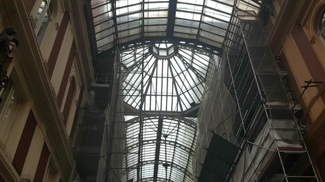 """Galleria Mazzini allagata dal maltempo, l'appello del Civ: """"Finite presto i lavori"""""""