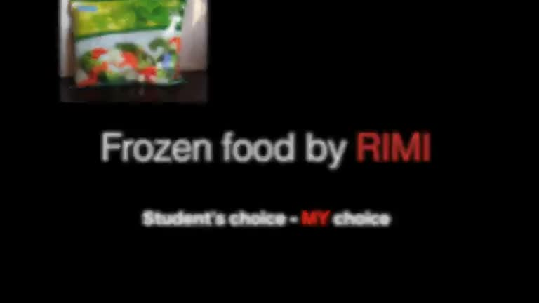 Frozen food - Mmm, so good!