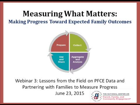 Lessons from the Field on PFCE Data and Partnering with Families to Measure Progress