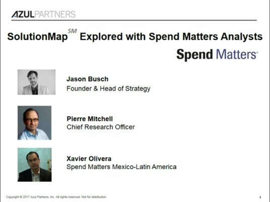 SolutionMap Explored with Spend Matters' Analysts slide image