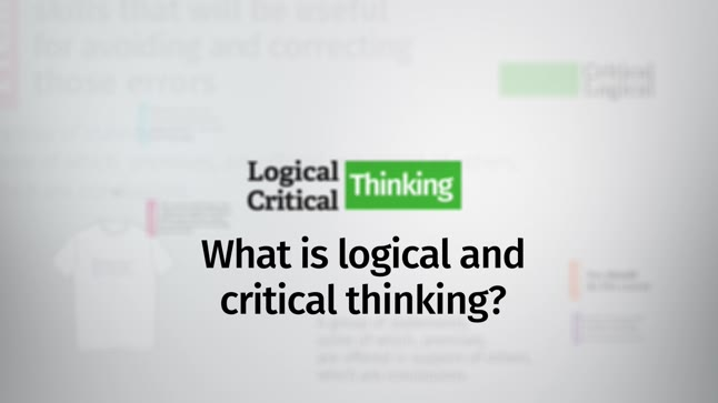 what is the purpose of studying logic and critical thinking Thinking critically about critical thinking: on how to develop critical thinkers the purpose of this paper is to with a particular field of study.