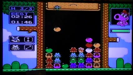 Nintendo Entertainment System - Wario's Woods - NTSC - Fastest Completion [3 Rounds / Hard Mode] - 01:57.0 - Ryan Genno