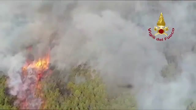 Video: L'incendio sul Monte Sella