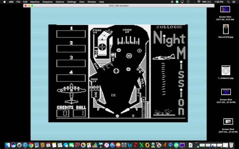 Commodore 64 - Night Mission Pinball - EMU - Points - - 556,120 - Marco Sandoval