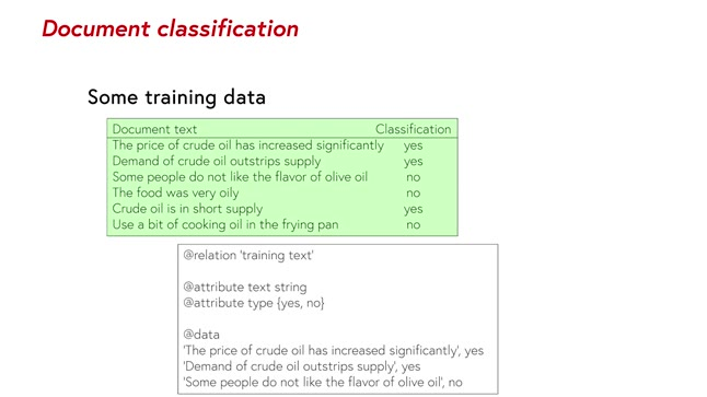 Document classification - More Data Mining with Weka