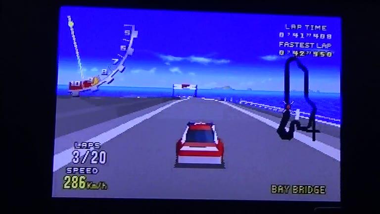 Sega 32X - Virtua Racing Deluxe - NTSC - Bay Bridge - Fastest Lap - Stock - 42.593 - Terence O'Neill