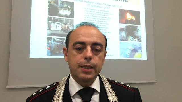 Savona, il capitano Azara racconta la cattura del piromane