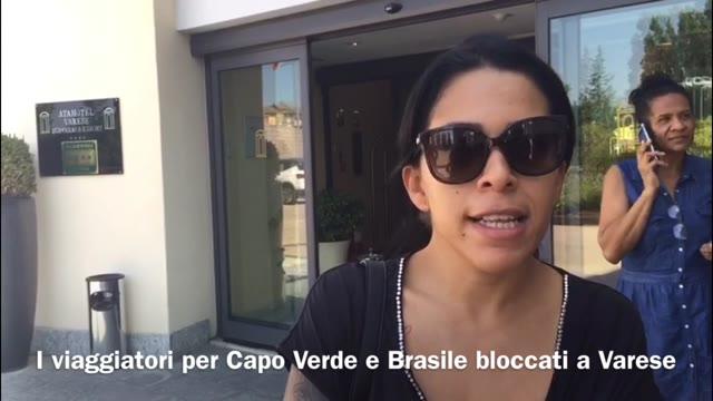Video: Viaggiatori per Capo Verde e Brasile bloccati a Varese