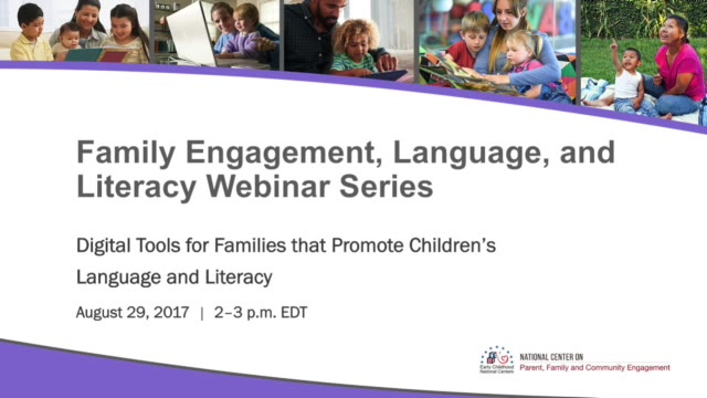 Digital Tools for Families that Promote Children's Language and Literacy