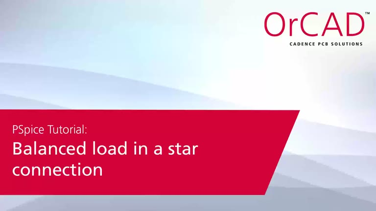 A PSpice® A/D Application-Balanced load in a star connection