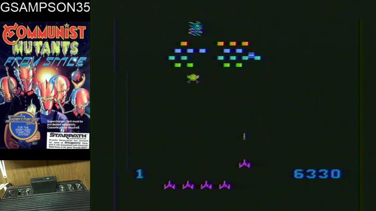 Atari 2600 / VCS - Communist Mutants From Space - NTSC - Game 1, Difficulty B - 57,390 - glen sampson